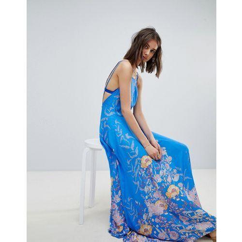 embrace it low back maxi dress - blue marki Free people