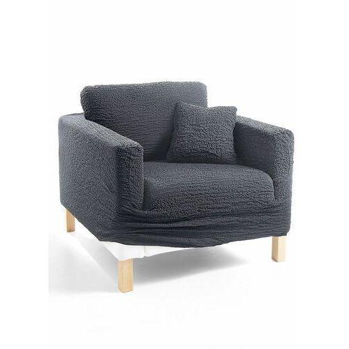 Pokrowiec/poszewki na poduszki z kreszowanego materiału bonprix antracytowy