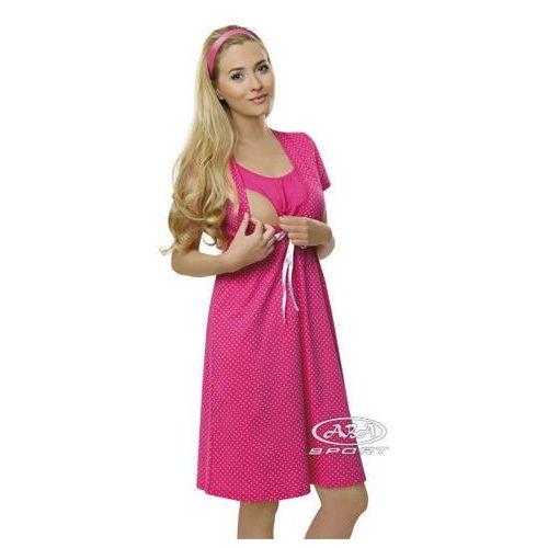 Koszula ciążowa radość / wysyłka 24h/gwarancja 24m - ciemny róż marki Italian fashion