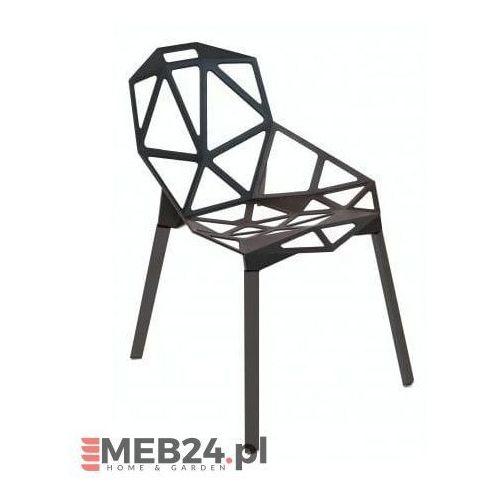 Krzesło Kors czarny z czarnymi nogami, kolor czarny