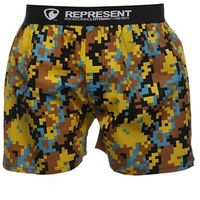 spodenki REPRESENT - Exclusive Mike Digital Emotions Yellow (742) rozmiar: L, kolor żółty