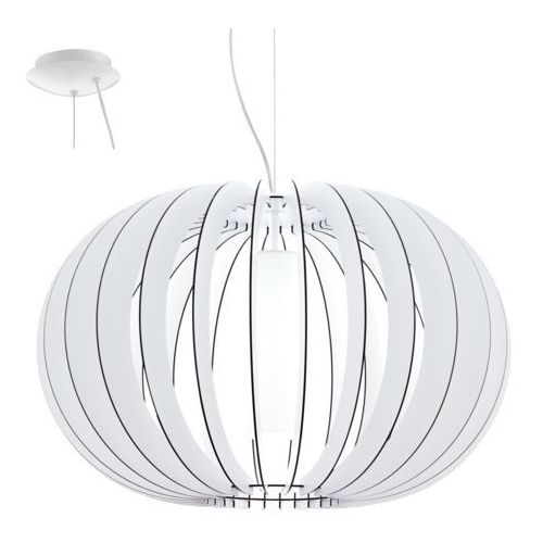 Eglo 95608 - Żyrandol STELLATO 2 1xE27/60W/230V, kolor biały