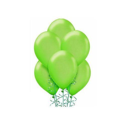Balony lateksowe metaliczne średnie - jasnozielone - 25 szt. marki Belball