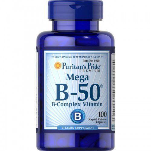 Witamina B-50 Complex / 100 kaps Puritans Pride, produkt z kategorii- Witaminy i minerały