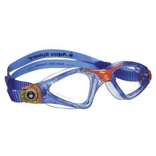 Aqua sphere Aquasphere okulary kayenne junior jasne szkła, niebieski-pomarańczowy