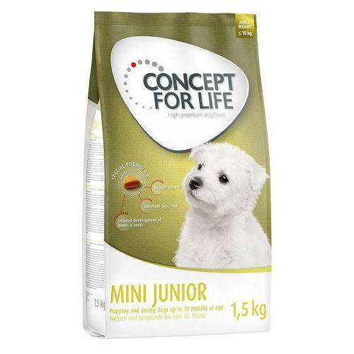 mini junior - 1,5 kg| darmowa dostawa od 89 zł + promocje od zooplus!| -5% rabat dla nowych klientów marki Concept for life