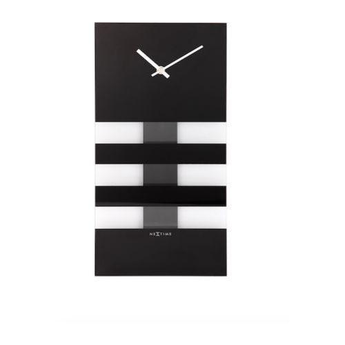 Nextime :: zegar ścienny bold stripes 19 x 38cm czarny