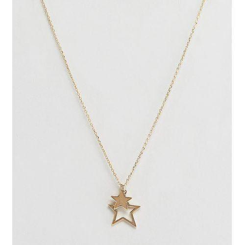 Orelia gold plated star pendant necklace in gift box - Gold