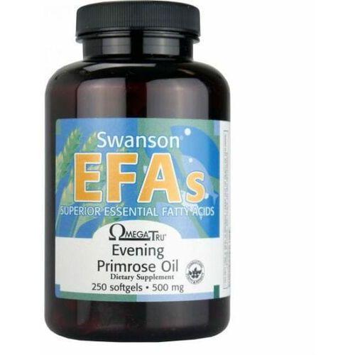 Olej z wiesiołka dwuletniego Evening Primrose Oil EFAs 500mg 250 kapsułek Swanson