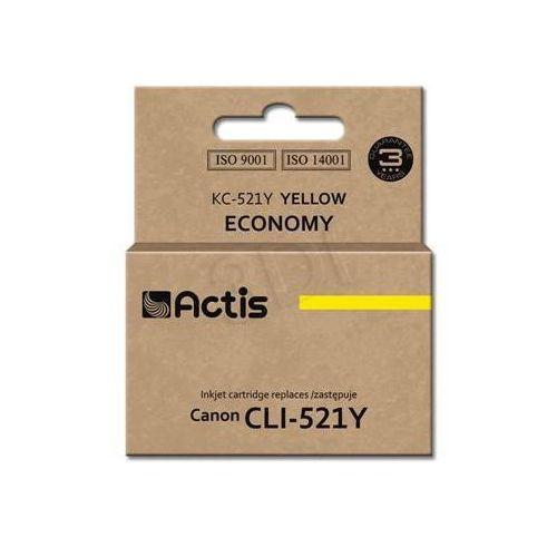 Actis Tusz  kc-521y (do drukarki canon, zamiennik cli-521y standard 10ml yellow chip)