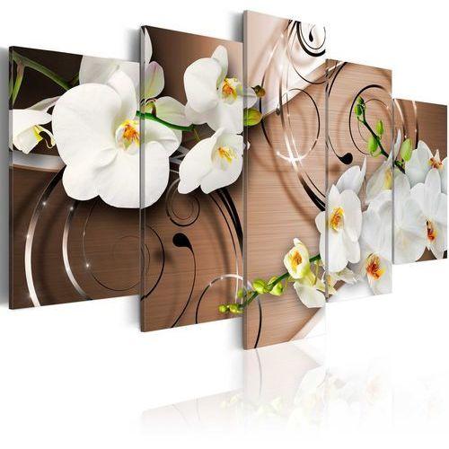 Obraz - orchidee w kolorze kości słoniowej marki Artgeist