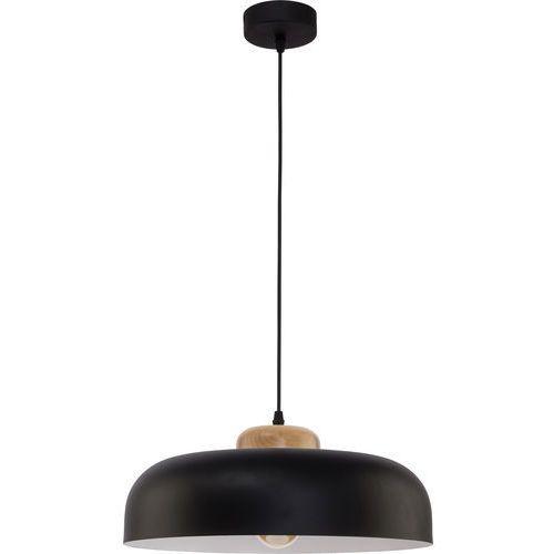 Lampa wisząca zwis TK Lighting Steel 1x60W E27 czarna / biała 2376 (5901780523763)