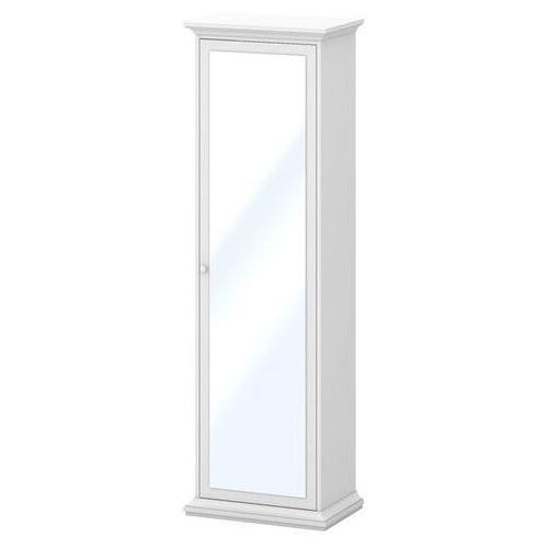 Romantyczna szafa z lustrem Paris 1D biała