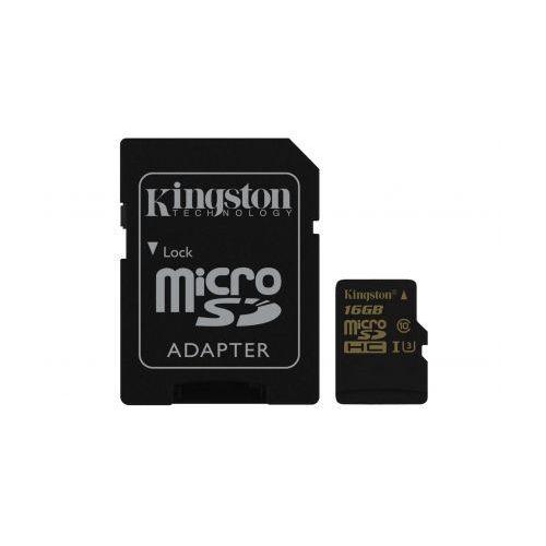Kingston 16GB microSDHC Class 10 U3 UHS-I 90R/45W + SD Adapter