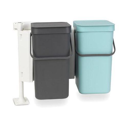 Brabantia Kosz podwójny do segregacji odpadów szafkowy sort & go 2 x 12 l