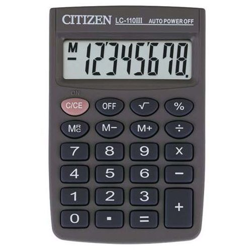 * kalkulator kieszonkowy * 8-pozycyjny wyświetlacz * zasilanie bateryjne * gumowe klawisze * etui * wymiary 58x87x12 mm * waga 40 g (4562195133254)