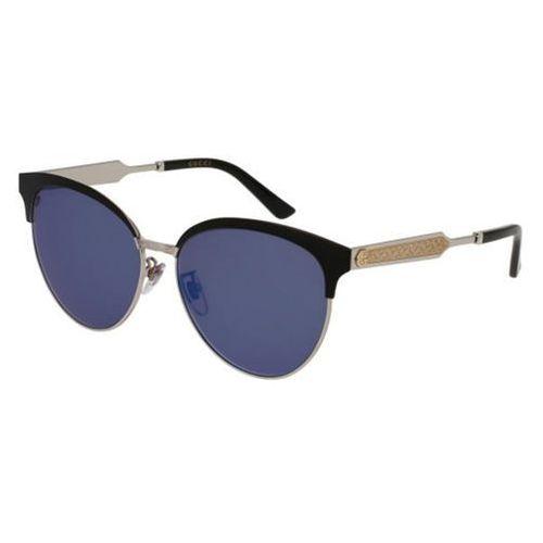 Okulary Słoneczne Gucci GG0074SK 001, kolor żółty