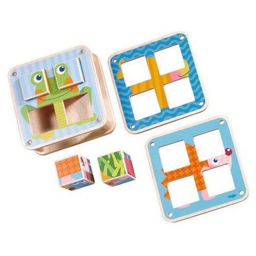 puzzle-kostki zwierzątka ogrodowe marki Haba