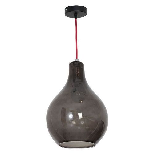 Luminex Lampa wisząca single glass 7582 lampa sufitowa 1x60w e27 czarny/ czerwony (5907565975826)