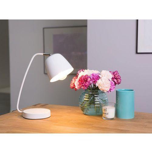 Beliani Lampa biurowa biała 29 cm urola