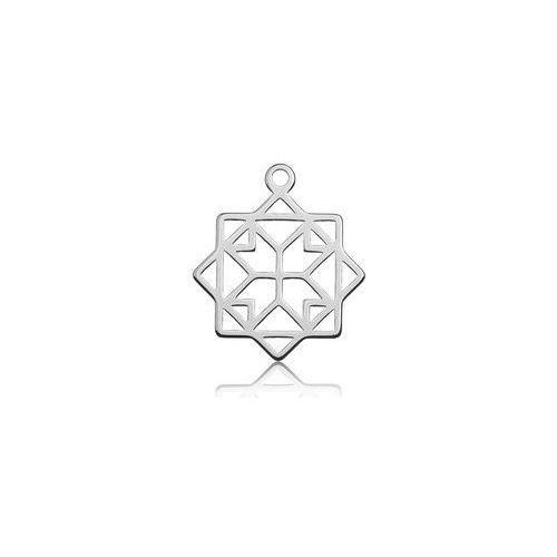 Zawieszka ażurowa geometryczna, srebro 925 BL 428