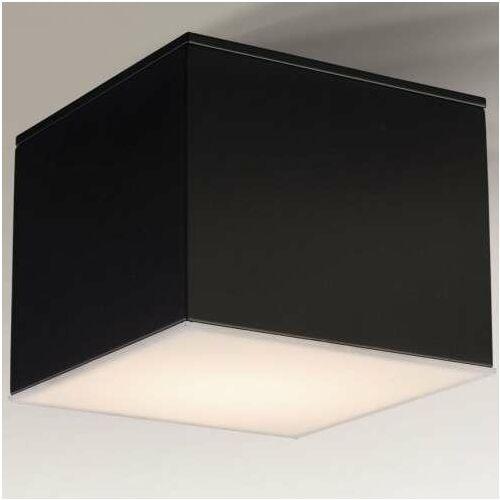 Natynkowa LAMPA sufitowa SUWA 1175 Shilo metalowa OPRAWA kwadratowa downlight kostka cube czarna, kolor biały;czarny