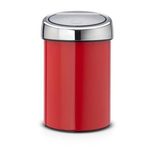 Kosz na śmieci Touch Bin 3l czerwony passion z pokrywą stalową