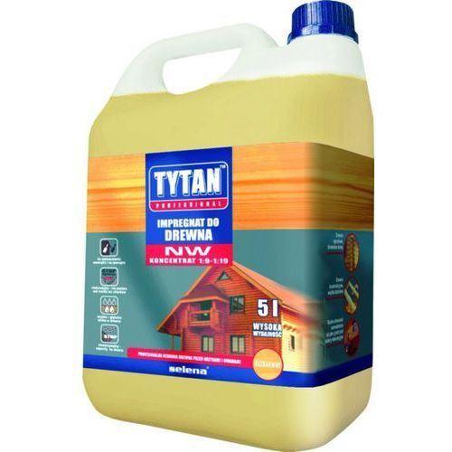 Impregnat do drewna nw koncentrat bezbarwny 5l darmowa dostawa marki Tytan