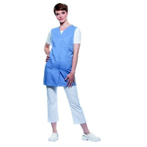 Tunika medyczna bez rękawów, rozmiar 40, szaroniebieska | KARLOWSKY, Sara