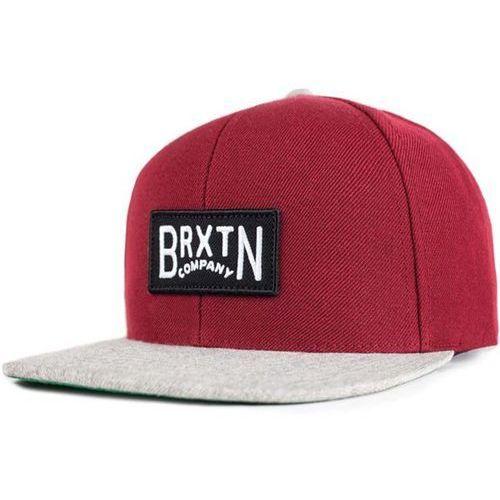 Brixton Czapka z daszkiem - langley burgundy/light heather grey (bulhg)