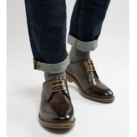 wide fit blake derby shoes in brown leather - brown, Base london