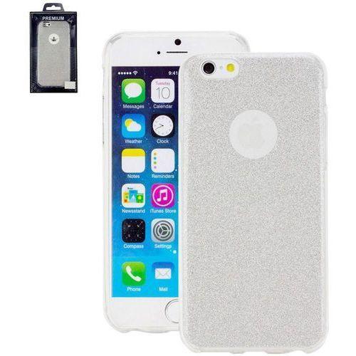 Pokrowiec na tył iPhone Perlecom 4260481642526, Pasuje do modelu telefonu: Apple iPhone 7, srebrny, efekt brokatu