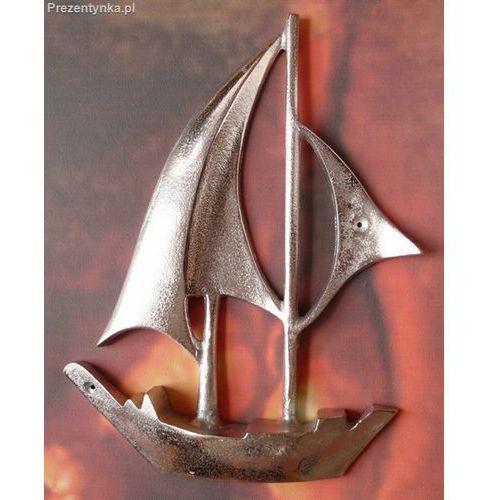 Metalowy jacht dekoracja ścienna