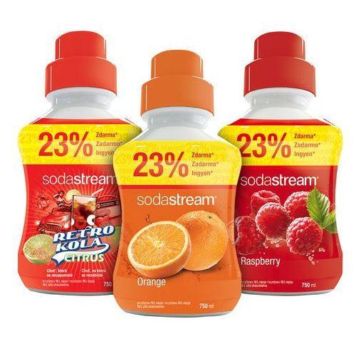 Sodastream  syropy pomarańczowy, malinowy, retro cola 750 ml (8590669179534)