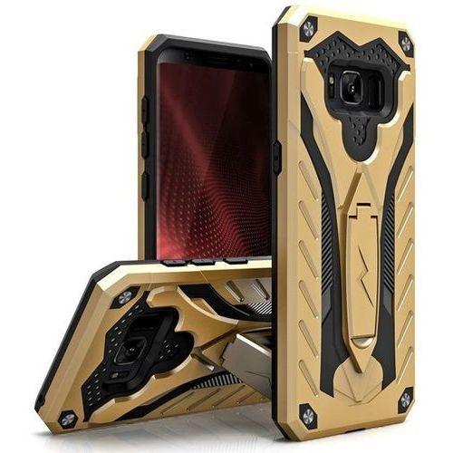 Zizo Static Cover - Pancerne etui Samsung Galaxy S8 z podstawką (Gold/Black)