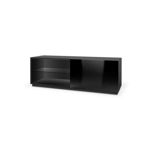 Style furniture Tres szafka rtv 120 czarna wysoki połysk