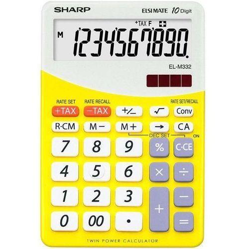 Kalkulator SHARP Desktop Blister ELM332BYL Żółty (4974019026596)