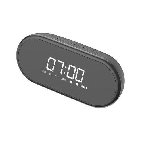 Baseus encok e09 bezprzewodowy głośnik, zegarek, budzik i lampka nocna czarny (nge09-01) - czarny (6953156293748)