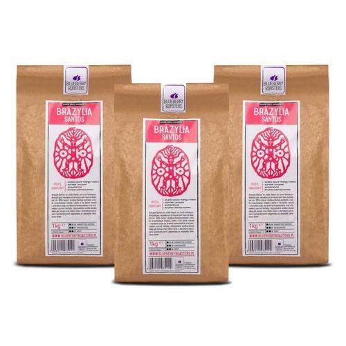 Zestaw 3xkawa mielona brazylia santos 1kg wyprodukowany przez Blueberry roasters