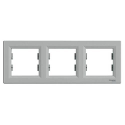 Schneider Ramka 3-krotna asfora pozioma aluminium eph5800361 (3606480728969)