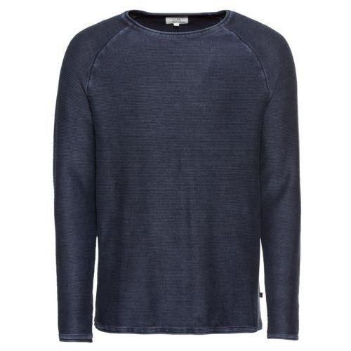 sweter męski l ciemny niebieski marki Q/s designed by
