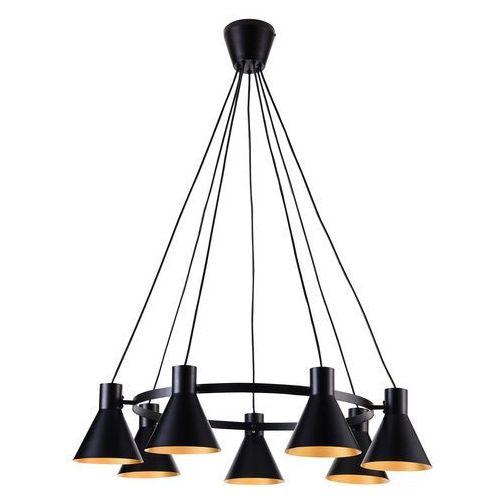 LAMPA wisząca MORE 37-71170 Candellux industrialna OPRAWA metalowy zwis okrąg ring czarny