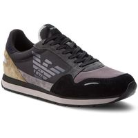 Sneakersy - x4x215 xl200 a103 black/ash/military, Emporio armani, 41-45