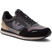 Sneakersy - x4x215 xl200 a103 black/ash/military, Emporio armani, 42-45