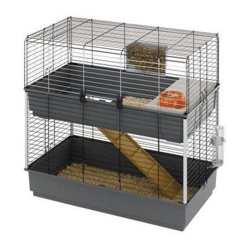 Ferplast Rabbit 100 Double dwupiętrowa klatka dla królika z wyposażeniem
