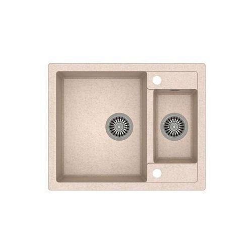 Quadron Zlew granitowy ze stalowym syfonem morgan 150 - beżowy