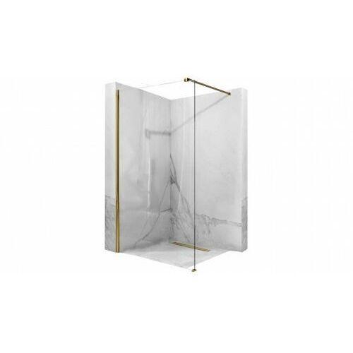 ścianka prysznicowa aero 90x195cm gold rea-k8442 marki Rea