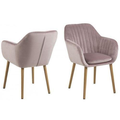 Krzesło Emilia Velvet pudrowy roż, EmiliaVIC_krz_dustyr