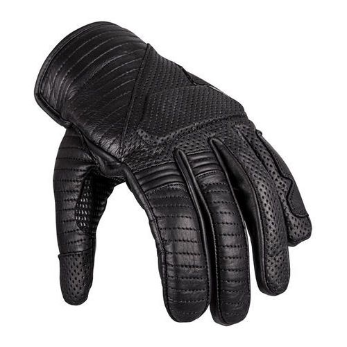 Skórzane rękawice motocyklowe brillanta, czarny, s, W-tec