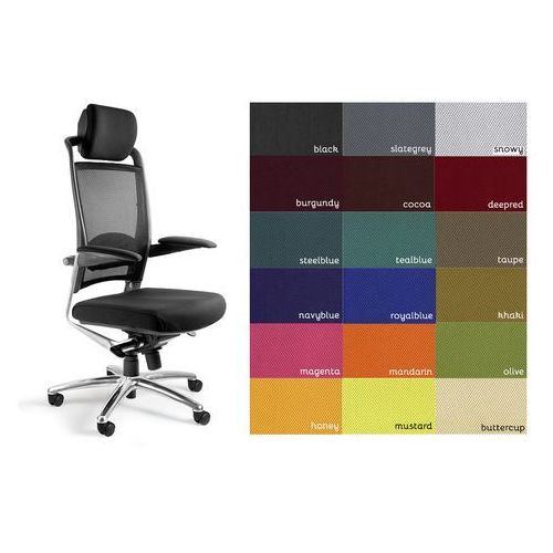 Fotel biurowy obrotowy fulkrum - kolory! marki Unique